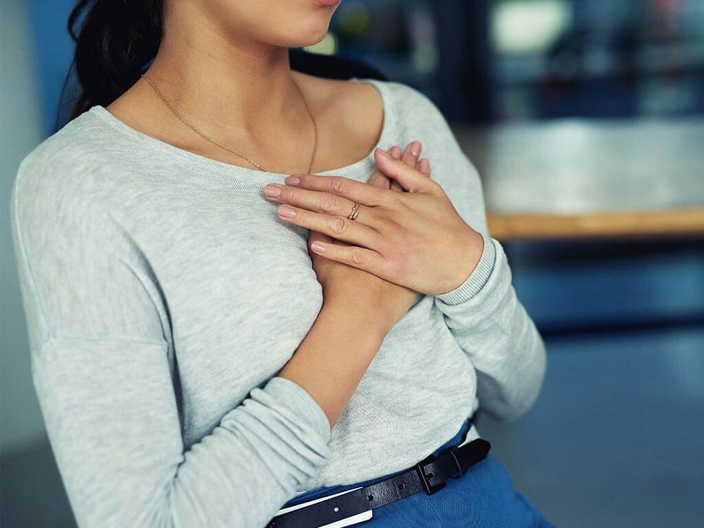 Stillen Brustschmerzen